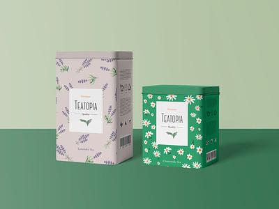 Teatopia Tea Packaking Design teapackaking tealogo tea packaking illustrator logotype logo illustration design creative