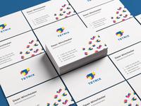 Tetrix IT Company Logo, Brand Identity Concept business tetrixlogo branding design typography branding logotype logo design creative