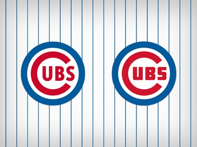 Logo Revisions: Chicago Cubs jersey script crest concept redesign baseball cubs mlb design sports branding logo