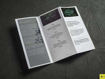 Clear Broshuredesign Coaching branding hypnotherapist coaching broshure flyer design