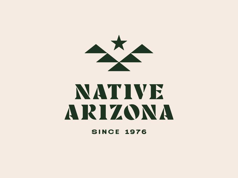 Native Arizona bird stars arizona identity branding icon brand type mark logo