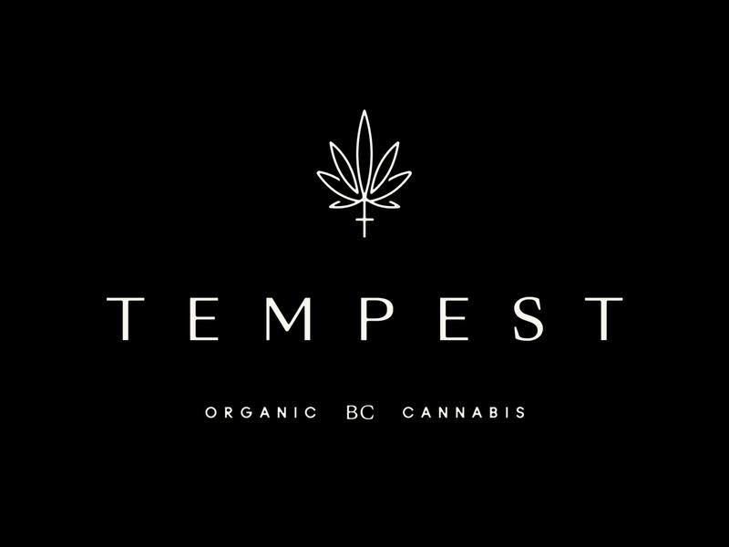Tempest organic packaging mark icon hemp logo hemp cannabis packaging cannabis branding pot cannabis