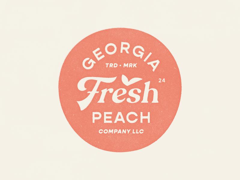 Georgia Peach produce fruit peach fresh packaging identity food branding icon brand type mark logo