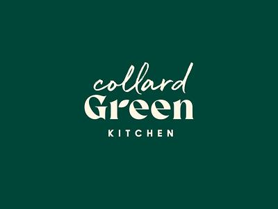Collard Green Kitchen kitchen collard nature green organic packaging identity food branding icon brand type mark logo