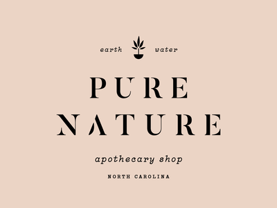 Pure Nature apothecary nature identity branding icon brand type mark logo