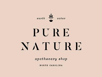 Pure Nature apothecary nature identity branding icon brand type mark logo