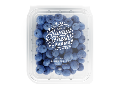 Always Fresh berry farm food packaging branding icon brand mark type logo