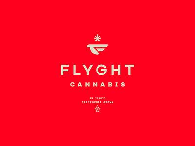 Flyght Cannabis pot cannabis packaging identity branding icon brand type mark logo