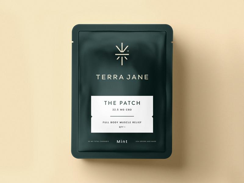 Terra Jane pot cbd thc cannabis packaging identity branding icon brand type mark logo