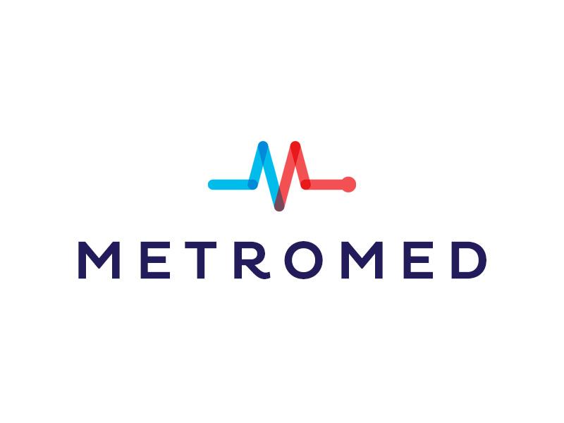 MetroMed logo brand mark icon type m medical med pulse