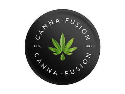Canna-Fusion  high cannabis pot weed packaging mark logo