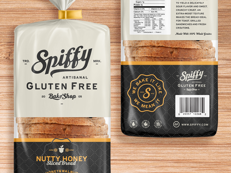 Spiffy Bakeshop  bag product food brand logo packaging bread