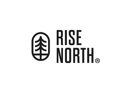 Rise North canada wood tree north type identity logo