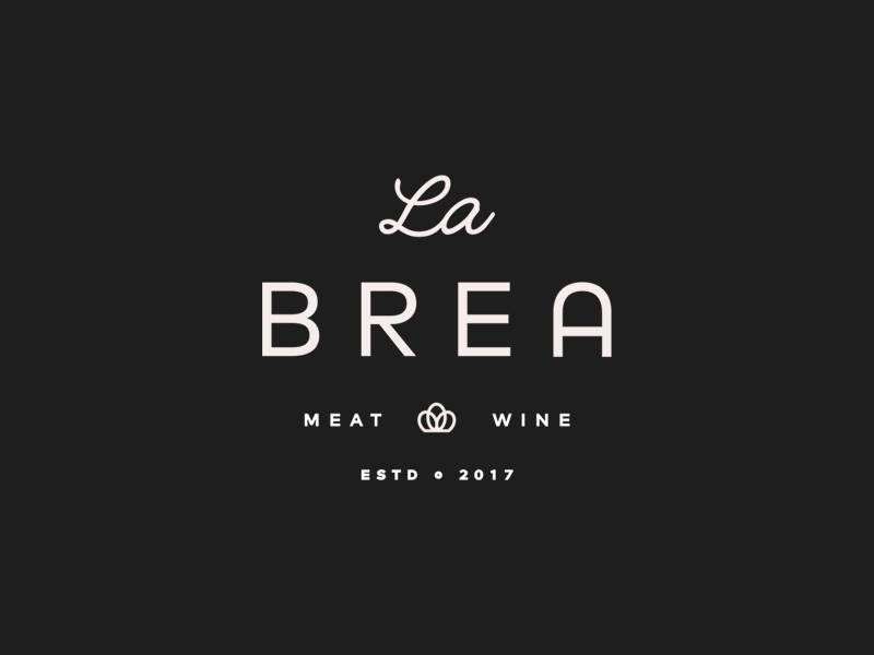 La Brea lettering type california restaurant food mark logo