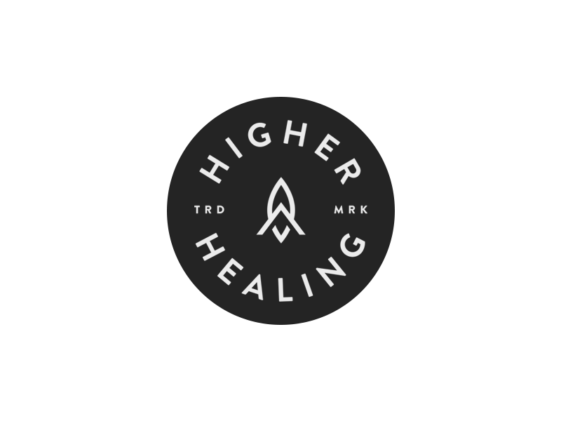 Higher Healing mark badge logo health healing cannabis high