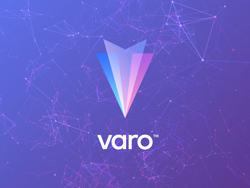 Varo identity crypto mark type logo