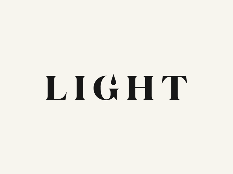 Light identity light icon mark lettering typography type logo