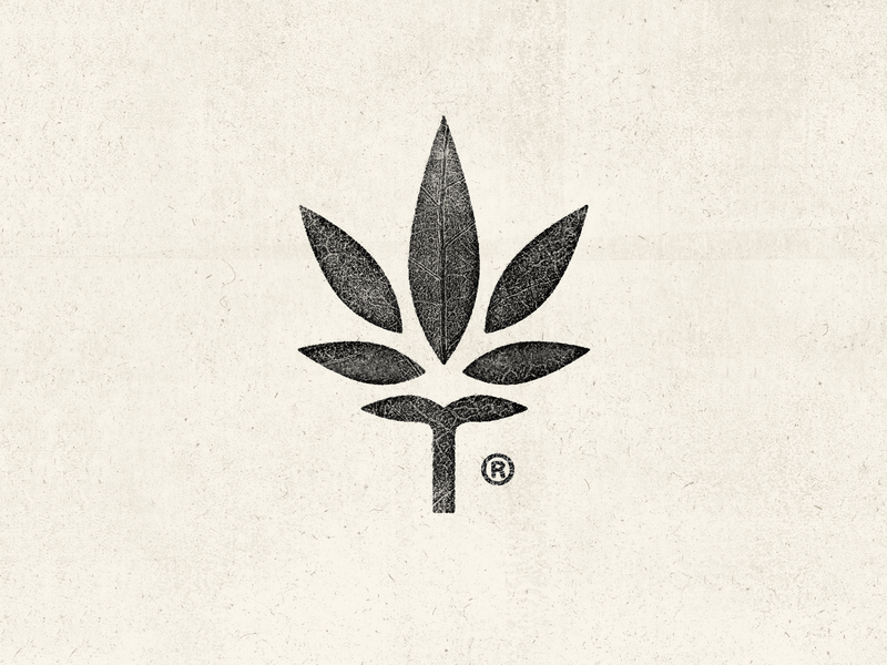 Growers mark leaf logo growers grow leaf cannabis pot weed