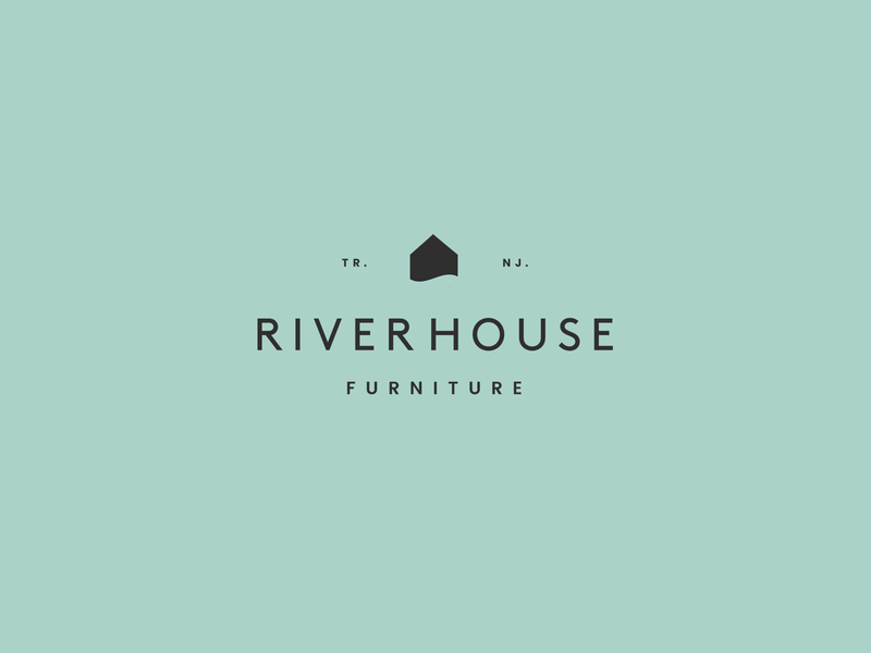 Riverhouse water home house river mark icon symbol mark logo