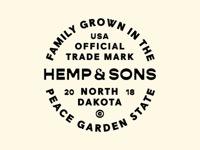Hemp & Sons badge cannabis logo cannabis pot cbd hemp