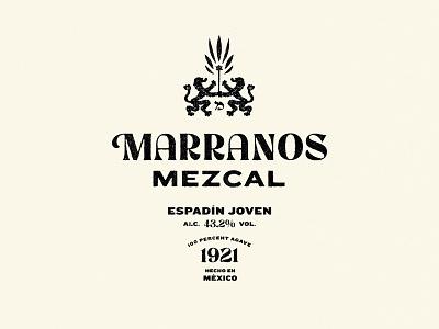 Marranos Mezcal logodesign packaging tequila labeldesign bottle label bottle mezcal