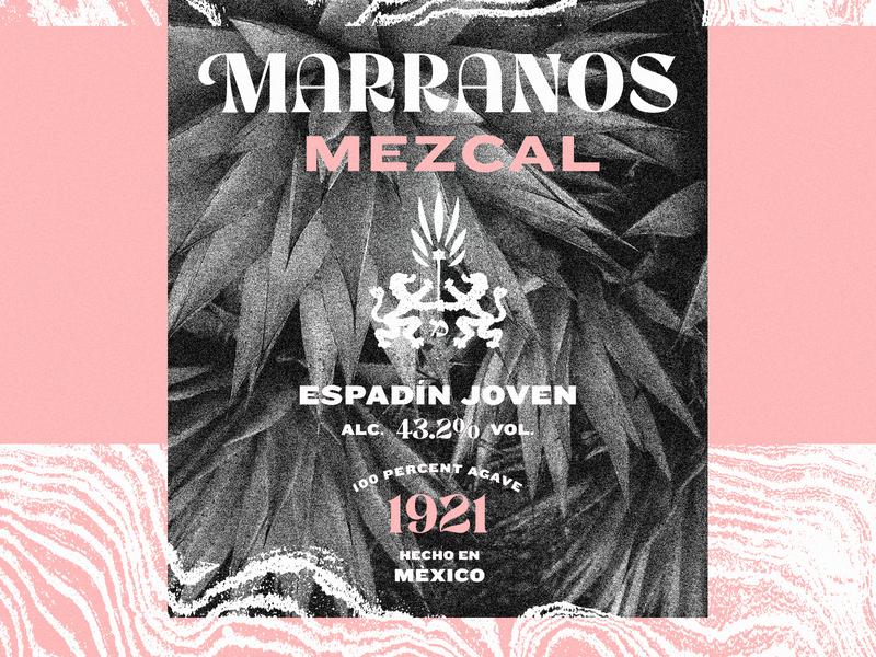 Marranos Mezcal tequila mezcal branding lettering label