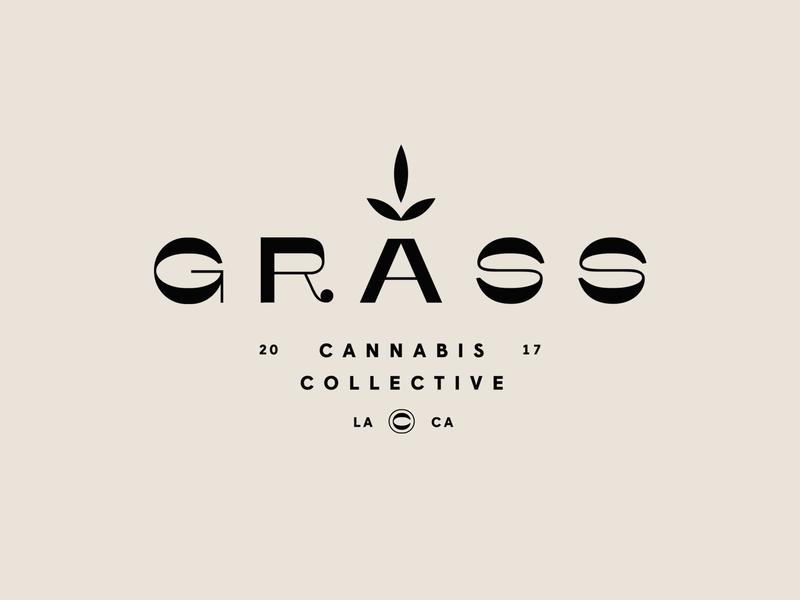Grass Cannabis Collective logotype logo brand branding cbd logo grass cannabis logo cbd thc pot cannabis