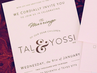 Today is the day.  my wedding wedding invite marriage celebrate party