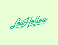 Low Hollow custom type illustration vector logo typography branding design line art custom script custom lettering custom type type design typeface type customtype