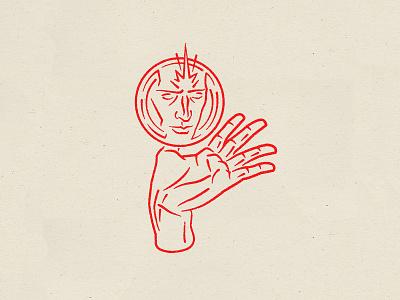 Crystal Ball branding illustration design vector hand logo line art tarot crystal ball mind reading