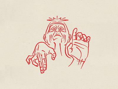 The Emperor? drawings obey telepathy psychic star wars drawing ink red lukeskywalker darthvadar riseofskywalker palpatine hand branding vector illustration design line art emperor starwars