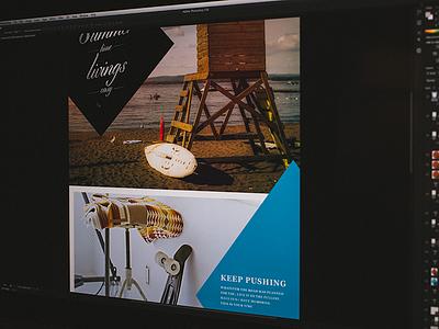 Magazine or Clothing concept mag clothing jcrew concept web design surf skate summer unsplash