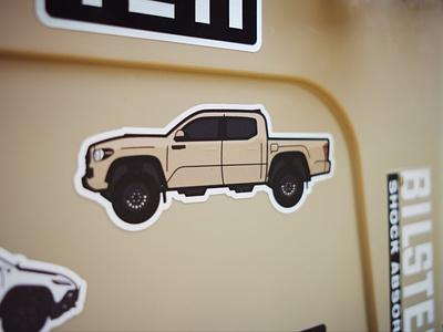 Tacoma stickers illustration tacoma toyota truck shop sale stickers