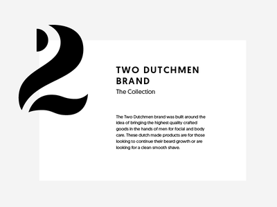 Two Dutchmen type system branding design markup logo dutchmen two