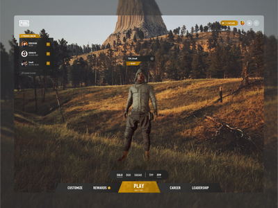 My take on PUBGs interface game ui battlegrounds pubg