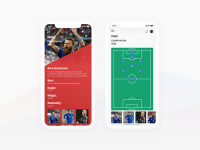 World Cup is coming ui design ios iceland soccer sports cup world