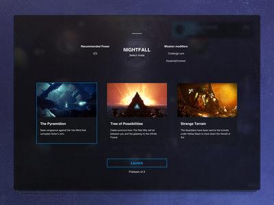 Destiny's Nightfall forsaken destiny 2 bungie pc game gaming design ui nightfall destiny