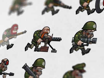 USA units character ww2 war game art call of victory usa unit ipad game