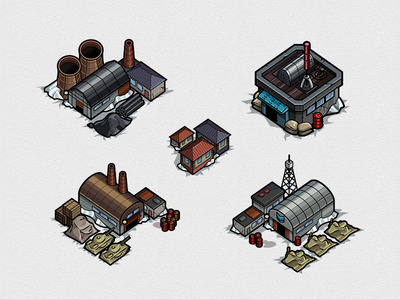 Map Buildings set
