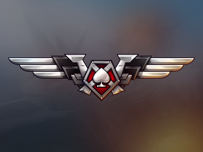 """Codename """"DogFight"""" Gamelogo sky logo game game art dogfight"""