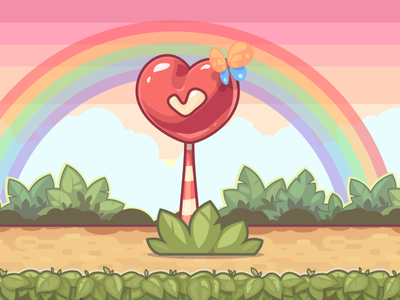 I ♥ checkpoints game art fun love butterfly colors mobile game rainbow checkpoint