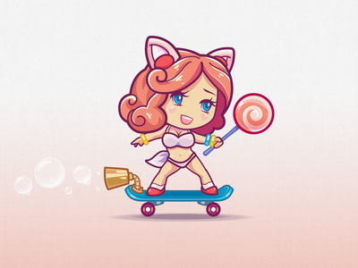 ♥.♥ Victoria ♥.♥ angel skater character girl candy boobs mobile game