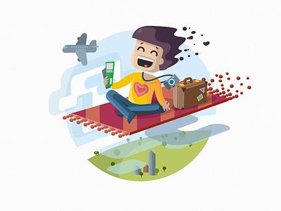 Enjoy Your Trip travel flight carpet trip