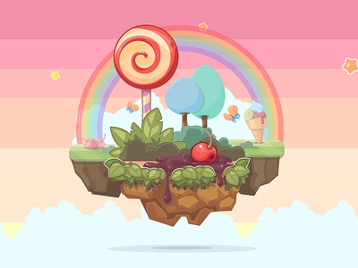 Magic Islands rainbow game candy