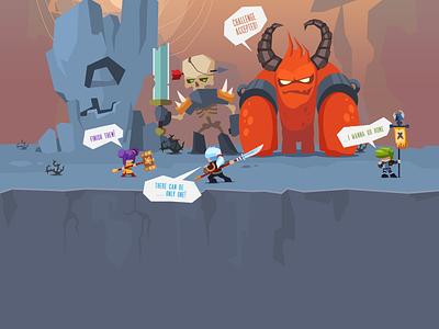 Monster Slayer...Tap Tap Tap artforsale mobile game monster tap