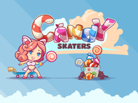 Candy Skaters boobs girls kelpiestudio rainbow logo game candy