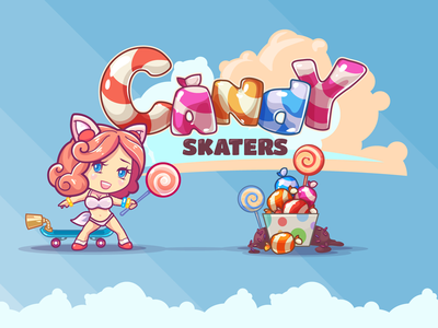 Candy Skaters boobs girls kelpiestudio rainbow logo game candy