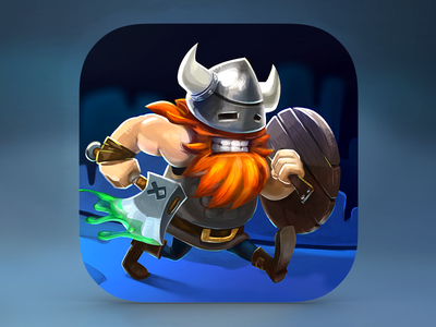 Viking Zombie Apocalypse game mobile iphone ios illustration icon hand axe runner viking angry appstore