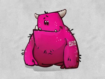 SEO Monster seo monster cartoon character purple friend vector