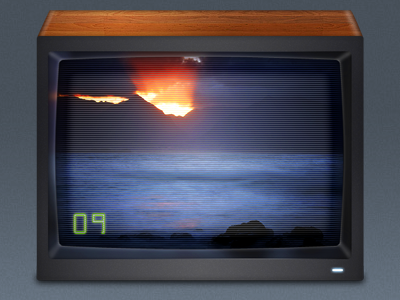 Plex 9 TV set icon plex